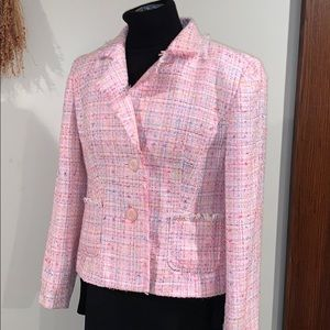 Beautiful pink tweed jacket 12